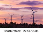 wind turbine power generator at ... | Shutterstock . vector #225370081