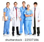 smiling medical people with... | Shutterstock . vector #22537186