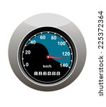 car speedometer showing someone ... | Shutterstock . vector #225372364