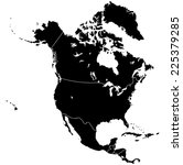 north america map  | Shutterstock .eps vector #225379285