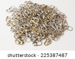 stack of aluminum ring pulls on ... | Shutterstock . vector #225387487