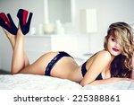 high fashion look.glamor... | Shutterstock . vector #225388861