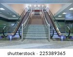 Empty Escalator Stairs In The...