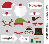 christmas photo booth and... | Shutterstock .eps vector #225394291