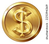 gold coin with dollar sign....