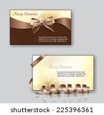 christmas greeting cards.... | Shutterstock .eps vector #225396361