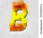 vector letter in watercolor | Shutterstock .eps vector #225403411