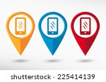 phone map pointer. vector...