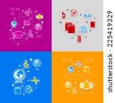 education sticker infographic | Shutterstock .eps vector #225419329