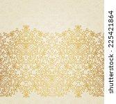 vector floral border in eastern ... | Shutterstock .eps vector #225421864