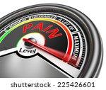 pain level conceptual meter...   Shutterstock . vector #225426601