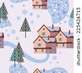 light winter background with... | Shutterstock .eps vector #225426715