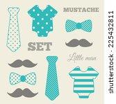 little man set. blue  gray ... | Shutterstock .eps vector #225432811