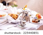 Stock photo luxurious room service breakfast in luxury hotel 225440851