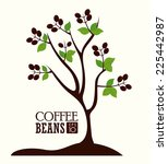coffee design over white... | Shutterstock .eps vector #225442987