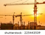 silhouette of construction site | Shutterstock . vector #225443539