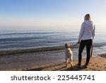 Girl Walking Near The Beach...
