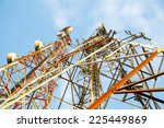 telecommunication mast tv... | Shutterstock . vector #225449869