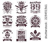baseball  rugby  snowboard... | Shutterstock .eps vector #225451561