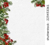 christmas background with... | Shutterstock . vector #225453361