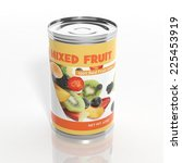 3d Mixed Fruit Metallic Can...