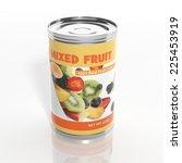 3d Mixed Fruit Metallic Can...