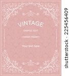 retro invitation card with... | Shutterstock .eps vector #225456409