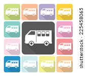 van icon color set vector... | Shutterstock .eps vector #225458065
