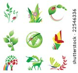 set of ecology icons  raster... | Shutterstock . vector #22546336