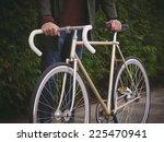 fixie bike detail in autumn... | Shutterstock . vector #225470941
