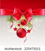 christmas greeting card. vector ... | Shutterstock .eps vector #225473311