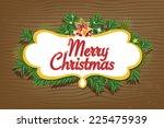 christmas background | Shutterstock .eps vector #225475939