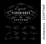 vector flourishes collection | Shutterstock .eps vector #225477469