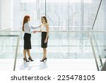 full length of businesswomen... | Shutterstock . vector #225478105