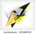 color triangles  unusual... | Shutterstock . vector #225480535