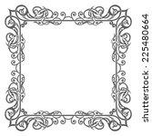 blank garnished frame  ancient... | Shutterstock .eps vector #225480664