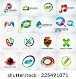 abstract company logo vector... | Shutterstock .eps vector #225491071