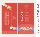 vector modern colorful menu for ... | Shutterstock .eps vector #225491461