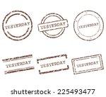 yesterday stamps | Shutterstock .eps vector #225493477