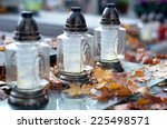 Autumn Cemetery  Candles And...
