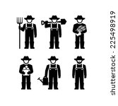 farmers vector figure pictogram  | Shutterstock .eps vector #225498919