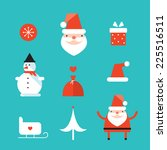 christmas and new year icon set.... | Shutterstock .eps vector #225516511