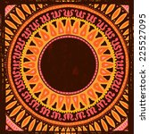 hand drawn  ethnic frame.  all...   Shutterstock .eps vector #225527095