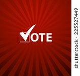 voting symbols vector design | Shutterstock .eps vector #225527449