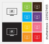 4k ultrahd tv or computer pc...   Shutterstock .eps vector #225527455