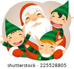 Santa Claus With Baby Elves...