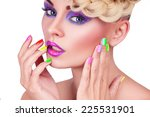 girl with a nice manicure | Shutterstock . vector #225531901