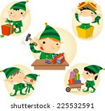 santa s elves action scenes... | Shutterstock .eps vector #225532591