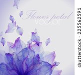 watercolor card with purple... | Shutterstock .eps vector #225562591