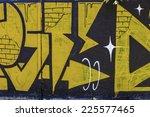 beautiful street art graffiti.... | Shutterstock . vector #225577465
